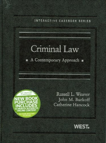 Criminal Law: A Contemporary Approach